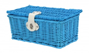 AMIGO bicycle basket willow front 6.5 litres light blue