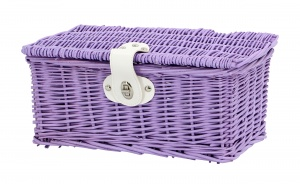 AMIGO bicycle basket willow front 6.5 litres of purple
