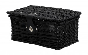 AMIGO bicycle basket willow front 6.5 litres black
