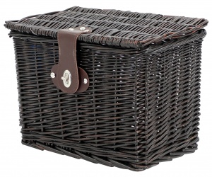 AMIGO bicycle basket willow front 9 litres dark brown