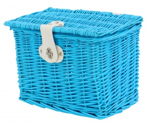 AMIGO bicycle basket willow front 9 litres light blue