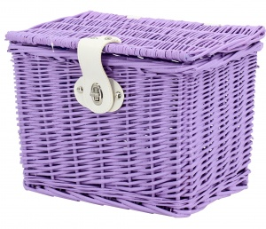 AMIGO bicycle basket willow front 9 litres of purple