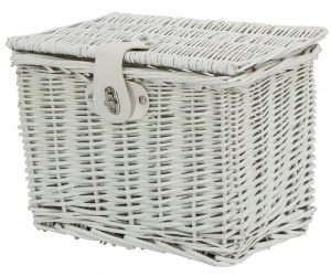 AMIGO bicycle basket willow front 9 litres of white