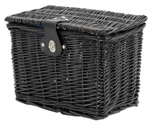 AMIGO bicycle basket willow front 9 litres black