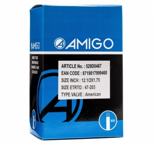 AMIGO inner tube 12 1/2 x 1.75 (47-203) AV 48 mm