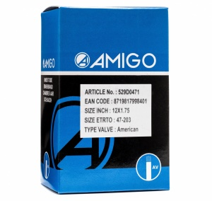 AMIGO inner tube 12 x 1.75 (47-203) AV 48 mm