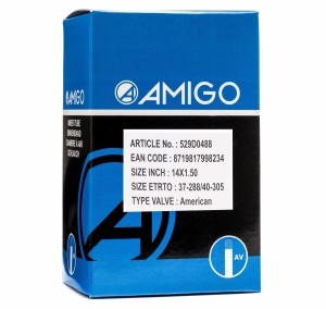 AMIGO Inner tube 14 x 1.50 (37/40-288/305) AV 48 mm