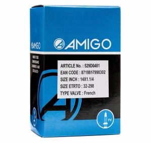 AMIGO Inner Tube 14 x 1 1/4 (32-298) FV 42 mm
