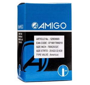 AMIGO Inner tube 28 x 1.00-1.25 (25/32-622/630) AV 48 mm