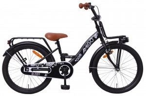 AMIGO Bloom 20 Inch Girls Coaster Brake Matte black
