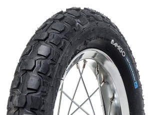 AMIGO outer tyre M-300 1mm PP12 1/2 x 2.1/4 (62-203) black