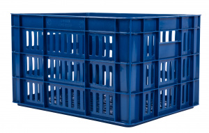 AMIGO bicycle crate plastic 27 litres dark blue