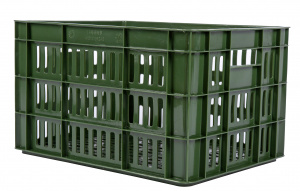 AMIGO bicycle crate plastic 27 litres army green