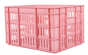AMIGO bicycle crate plastic 27 liters pink
