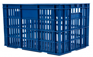 AMIGO bicycle crate plastic 33.6 litres dark blue