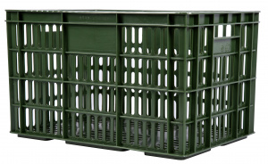 AMIGO bicycle crate plastic 33.6 litres army green
