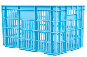 AMIGO bicycle crate plastic 33.6 litres light blue