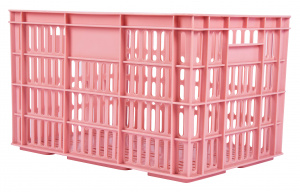 AMIGO bicycle crate plastic 33.6 liters pink