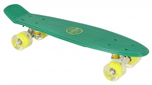 AMIGO skateboard with LED lighting 55.5 cm green/lime