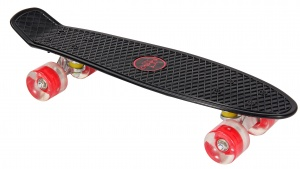 AMIGO skateboard with LED lamps 55.5 cm black/red