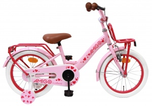 AMIGO Sweetheart 16 Inch Girls Coaster Brake Pink