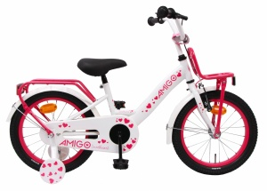 AMIGO Sweetheart 16 Inch Girls Coaster Brake White