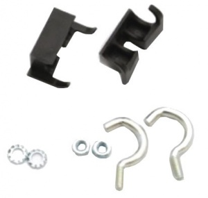 AXA Mounting set ring lock 12/14 mm black / silver 8-piece