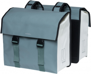 Basil double pannier Urban Load48-53 litres green/white - 17740