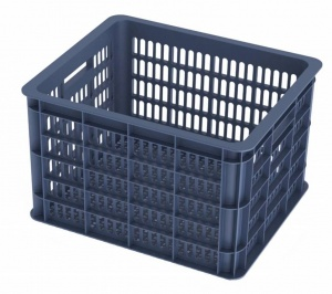 Basil bike crate bluestoneplastic 33 litres dark blue