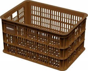 Basil bike crate Crate Lplastic 50 litres brown