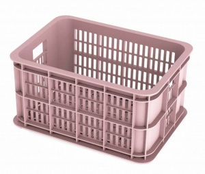 Basil bicycle crate Faded Blossom 25 liters pink