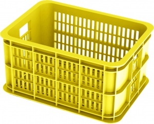 Basil bicycle crate plastic 25 litres lemon