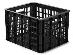 Basil bicycle crate plastic 50 litres black
