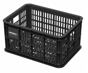 Basil bicycle crate plastic 25 litres black