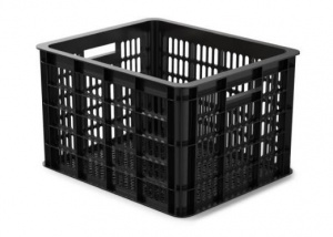 Basil bike crate plastic 33 litres black