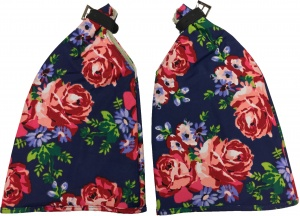 Basil Roses handwarmers set blue / red (50346)
