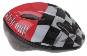 Bicycle Gear Helm junior finish maat 48/56 cm rood