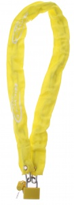 Bicycle Gear chain lock 4 x 900 mm yellow