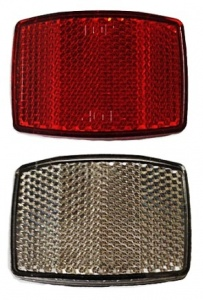 Bicycle Gear Reflector Set 72607 Wit / Rood