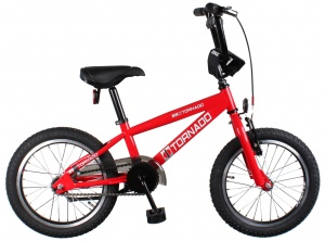 Bike Fun Cross Tornado 16 Inch Junior Terugtraprem Rood