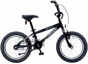 Bike Fun Cross Tornado 16 Inch Junior Terugtraprem Zwart