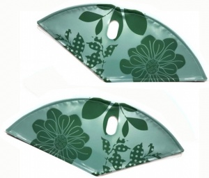BLS dress guardset lacquer cloth 28 inch 57 cm flowers green