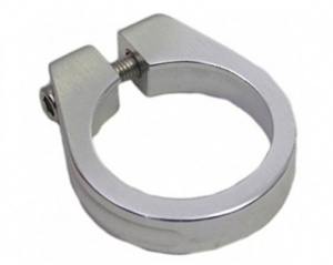 BLS seatpost clamp with socket 34.9 mm aluminium silver