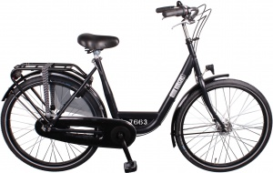 Burgers ID Personal 26 Inch Dames 3V Rollerbrakes Matzwart