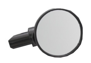 Busch + Müller Mirror Small 55 mm Round Black