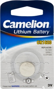 Camelion pile bouton Lithium 3V CR1620 chacun