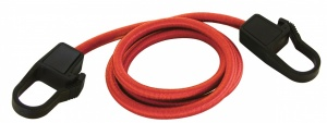 Carpoint luggage belt with safety hooks Ø9 mm red 100 cm