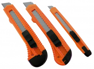 Carpoint messerset orange 3-teilig