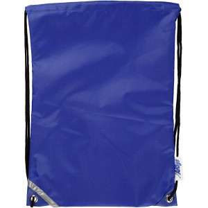 Creative backpack with pull closure 31 x 44 cm blue