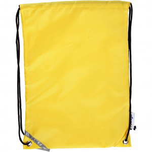 Creative backpack with pull closure 31 x 44 cm yellow